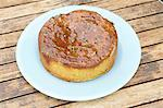 Making Passion Fruit cake - the finished cake - step shot Stock Photo - Premium Rights-Managed, Artist: foodanddrinkphotos, Code: 824-06490458