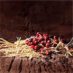 Cranberries on a rustic table Stock Photo - Premium Rights-Managed, Artist: foodanddrinkphotos, Code: 824-06491278