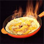 Making Crepe Suzette - flambe - step shot Stock Photo - Premium Rights-Managed, Artist: foodanddrinkphotos, Code: 824-06491300