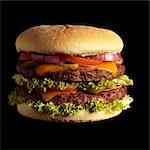 Double Cheeseburger Stock Photo - Premium Rights-Managed, Artist: foodanddrinkphotos, Code: 824-06491321