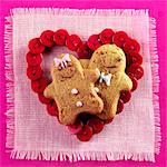 Valentine's Day Gingerbread Cookies Stock Photo - Premium Rights-Managed, Artist: foodanddrinkphotos, Code: 824-06491819