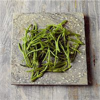 slate - Samphire on a stone surface Stock Photo - Premium Rights-Managednull, Code: 824-06492163