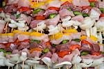 Barbeque skewers with meat and vegetables Stock Photo - Premium Rights-Managed, Artist: foodanddrinkphotos, Code: 824-06492181