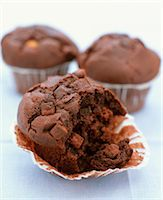 sweet   no people - Double Chocolate Muffins Stock Photo - Premium Rights-Managednull, Code: 824-06492753