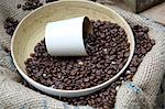 Freshly roasted coffee beans at market stall Stock Photo - Premium Rights-Managed, Artist: foodanddrinkphotos, Code: 824-06493077