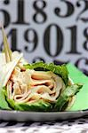 Turkey Wrap with Lettuce; Close Up Stock Photo - Premium Royalty-Free, Artist: CulturaRM, Code: 659-06493680