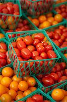 food stalls - Cherry Tomatoes in Small Plastic Crates at a Farmers Market Stock Photo - Premium Royalty-Freenull, Code: 659-06493683