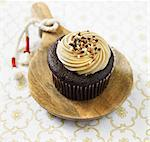 Organic Sea Salt, Caramel Chocolate Cupcake Stock Photo - Premium Royalty-Freenull, Code: 659-06493821