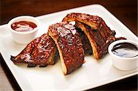 rib - Ribs, Close Up, with Barbecue Sauce Stock Photo - Premium Royalty-Freenull, Code: 659-06493865