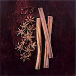 Cinnamon sticks, star anise and cloves Stock Photo - Premium Royalty-Freenull, Code: 659-06494106
