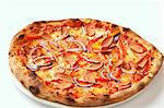 A sausage, pepper and onion pizza Stock Photo - Premium Royalty-Free, Artist: Cultura RM, Code: 659-06494229