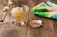 Margarita Sorbet with Lime and Red Pepper Infused Sea Salt Stock Photo - Premium Royalty-Freenull, Code: 659-06494452