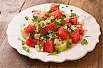 Vegan Salad of Watermelon, Cucumber and Tofu Feta Stock Photo - Premium Royalty-Free, Artist: Photocuisine, Code: 659-06494457
