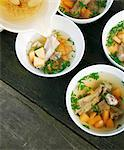 Broth with bamboo mushrooms, melon and pork ribs Stock Photo - Premium Royalty-Freenull, Code: 659-06494493