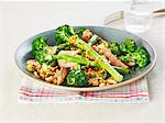 A plate of salmon with broccoli, nuts and orange zest Stock Photo - Premium Royalty-Free, Artist: Cultura RM, Code: 659-06494667