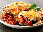 Gratinated aubergines with tomato sauce Stock Photo - Premium Royalty-Freenull, Code: 659-06494709