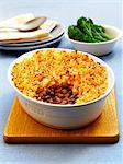 Cottage pie and broccoli Stock Photo - Premium Royalty-Freenull, Code: 659-06494746