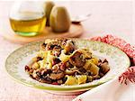 Pappardelle with mushrooms and bacon Stock Photo - Premium Royalty-Free, Artist: Westend61, Code: 659-06494785