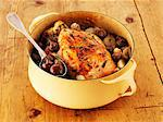 Chicken with mushrooms in a pot Stock Photo - Premium Royalty-Freenull, Code: 659-06494793