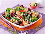Vegetable salad with king prawns (Thailand) Stock Photo - Premium Royalty-Free, Artist: Blend Images, Code: 659-06494802