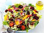 A colourful salad with oranges Stock Photo - Premium Royalty-Free, Artist: Aflo Relax, Code: 659-06494805
