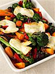 Oven-roasted vegetables with mozzarella Stock Photo - Premium Royalty-Free, Artist: Blend Images, Code: 659-06494817