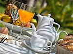 Breakfast on a garden table Stock Photo - Premium Royalty-Free, Artist: Robert Harding Images, Code: 659-06494835