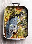 Poached carp with vegetables Stock Photo - Premium Royalty-Free, Artist: Westend61, Code: 659-06494967