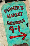 Sign Board at a Market in Montpelier, Vermont Stock Photo - Premium Royalty-Free, Artist: AWL Images, Code: 659-06495039