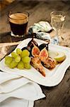 Italian Dessert Plate with Espresso and Sambuca Stock Photo - Premium Royalty-Freenull, Code: 659-06495117