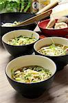 Szechuan soup with ginger, chilli, shiitake mushrooms, lemongrass, leek and carrots (China) Stock Photo - Premium Royalty-Freenull, Code: 659-06495162