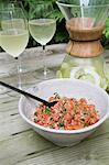 Salmon tartar and limeade Stock Photo - Premium Royalty-Free, Artist: CulturaRM, Code: 659-06495165