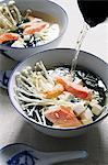 Miso soup with salmon and mushrooms (Japan) Stock Photo - Premium Royalty-Free, Artist: I Dream Stock, Code: 659-06495176