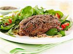 Lamb steak with mint and salad Stock Photo - Premium Royalty-Free, Artist: Photocuisine, Code: 659-06495183