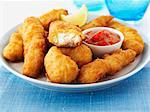 Haddock goujons Stock Photo - Premium Royalty-Freenull, Code: 659-06495195