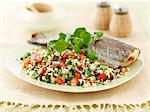 Trout with tabbouleh and watercress Stock Photo - Premium Royalty-Freenull, Code: 659-06495255