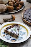 A slice of mushroom tart Stock Photo - Premium Royalty-Free, Artist: Andrew Kolb, Code: 659-06495360