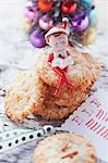 Christmas biscuits with pine nuts Stock Photo - Premium Royalty-Freenull, Code: 659-06495471