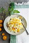 Potato salad with yellow tomatoes Stock Photo - Premium Royalty-Freenull, Code: 659-06495600