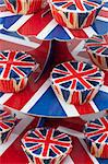 Patriotic cupcakes decorated with Union Jacks Stock Photo - Premium Royalty-Free, Artist: Ron Fehling, Code: 659-06495729