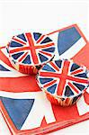 Two Union Jack cupcakes on matching paper napkins Stock Photo - Premium Royalty-Free, Artist: Photocuisine, Code: 659-06495731