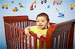 Boy in Crib Stock Photo - Premium Royalty-Freenull, Code: 6106-06497031