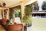 Patio of luxury villa Stock Photo - Premium Royalty-Free, Artist: Robert Harding Images, Code: 6113-06498310