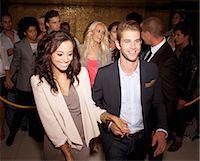queue club - Couple granted access at nightclub Stock Photo - Premium Royalty-Freenull, Code: 6113-06498598