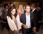 Couple granted access at nightclub Stock Photo - Premium Royalty-Free, Artist: Blend Images, Code: 6113-06498598