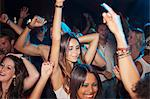 Crowd dancing on dance floor of nightclub Stock Photo - Premium Royalty-Free, Artist: Blend Images, Code: 6113-06498670