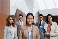 filipino - Portrait of confident business people Stock Photo - Premium Royalty-Freenull, Code: 6113-06498834