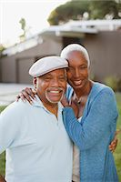 Older couple smiling together outdoors Stock Photo - Premium Royalty-Freenull, Code: 6113-06499013