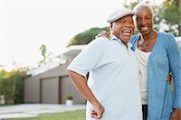 Older couple laughing together outdoors Stock Photo - Premium Royalty-Freenull, Code: 6113-06499016