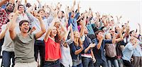 Cheering fans in crowd Stock Photo - Premium Royalty-Freenull, Code: 6113-06499151